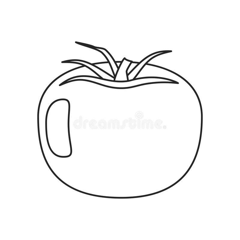 Pomidorowy jarzynowy zdrowy cienieje linię ilustracja wektor