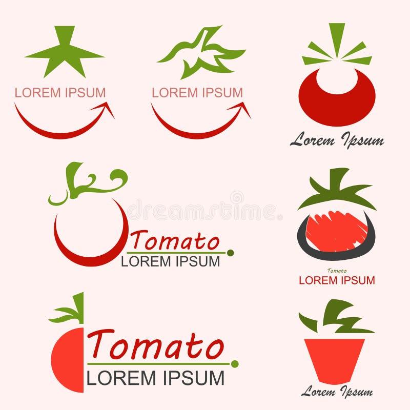 Pomidorowy logo ilustracji