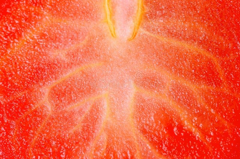 Pomidorowy Miąższowy Makro- zdjęcia royalty free