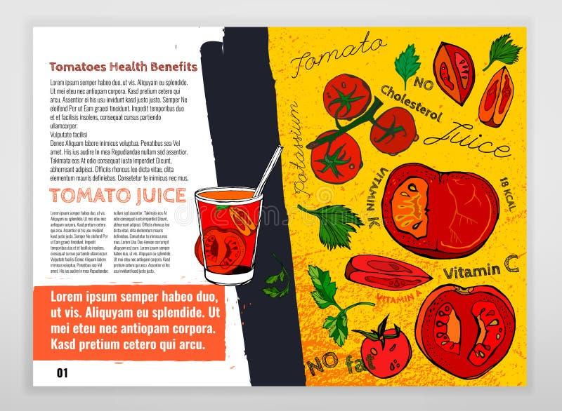 Pomidorowy wektorowy wizerunek royalty ilustracja