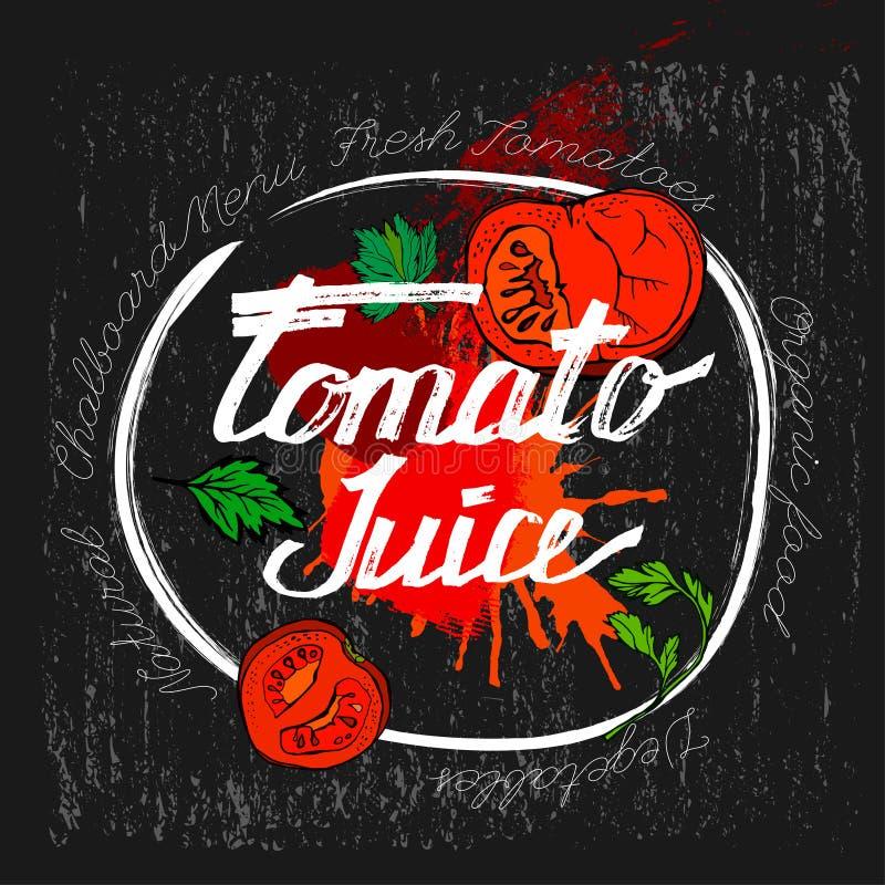 Pomidorowy wektorowy wizerunek ilustracja wektor