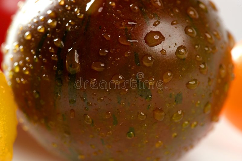 pomidoru czereśniowego koloru mały pomidor zdjęcie stock