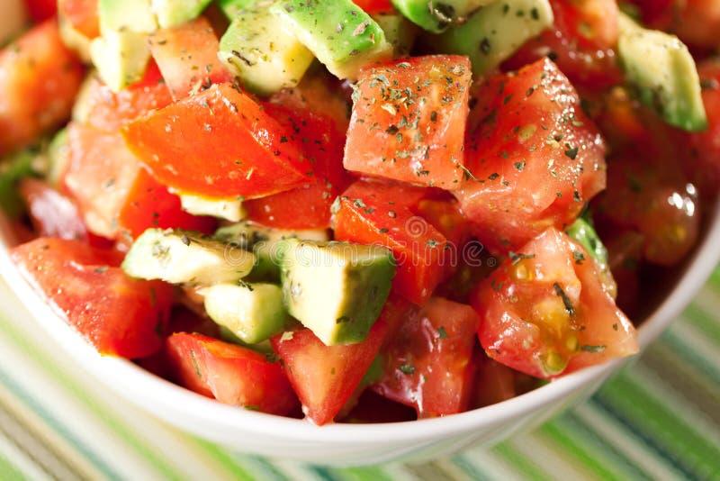 Pomidoru i avocado sałatka fotografia stock