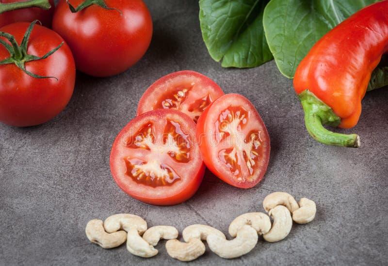 Pomidory, nerkodrzewy i słodki chili, fotografia stock