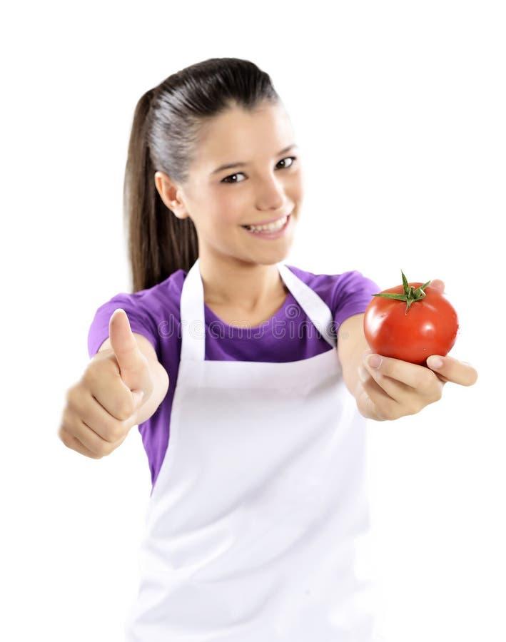 Pomidory ok znaka zdjęcie stock