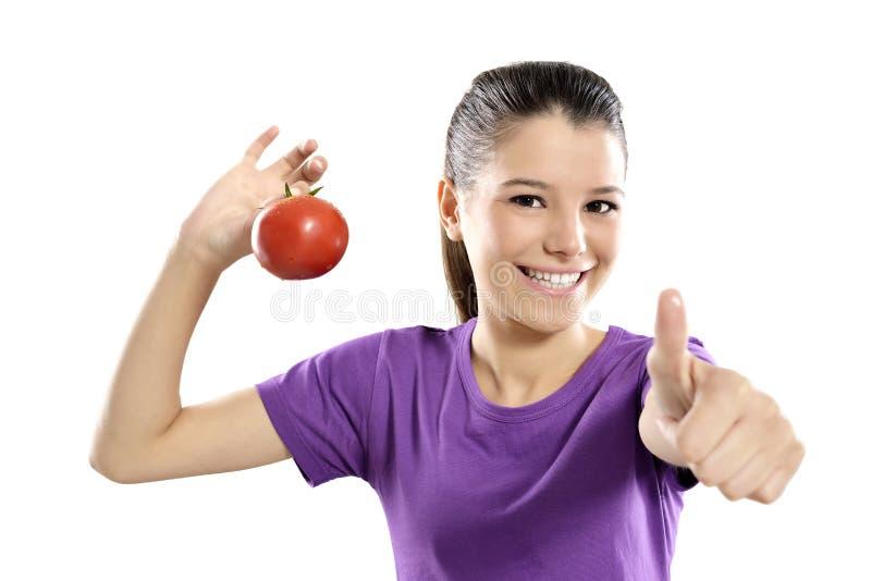 Pomidory ok znaka zdjęcia royalty free