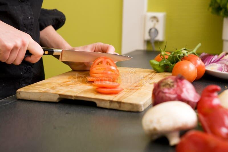 pomidory przecinania szczególne obrazy royalty free