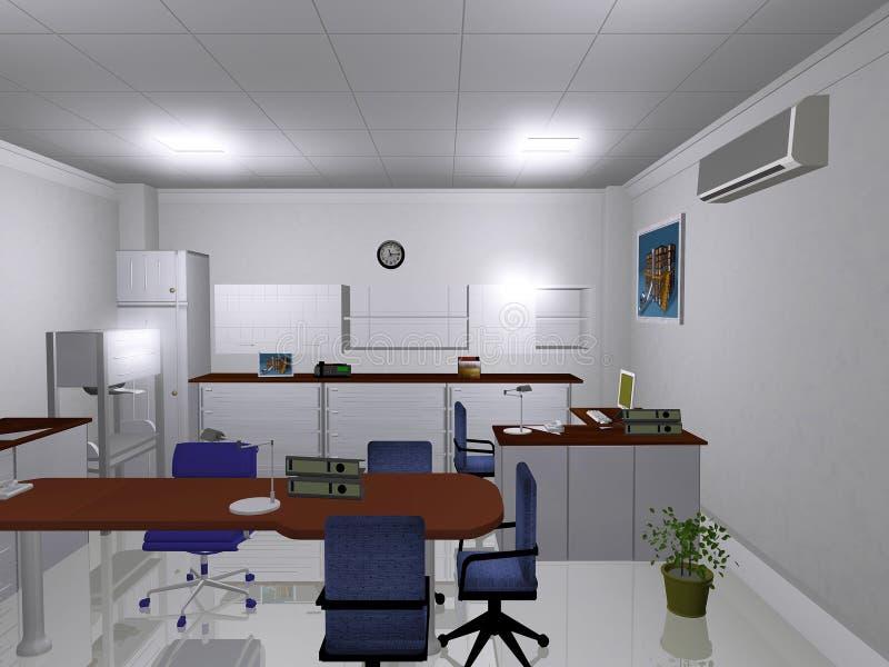 pomieszczenie biurowe royalty ilustracja