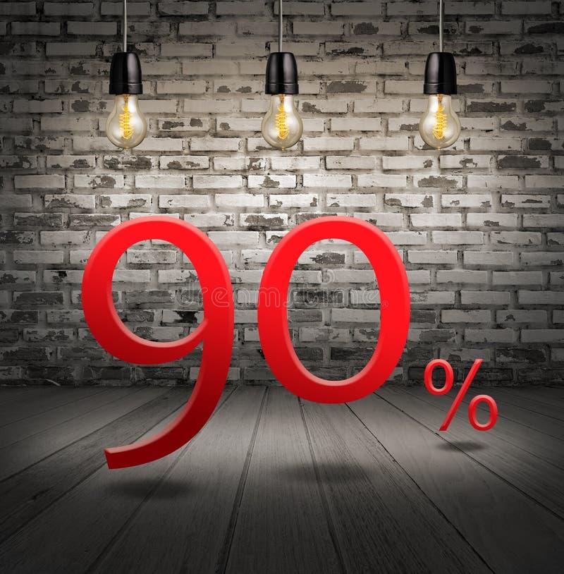 pomija 90 procentów daleko z tekst specjalną ofertą wewnątrz twój rabat obraz royalty free