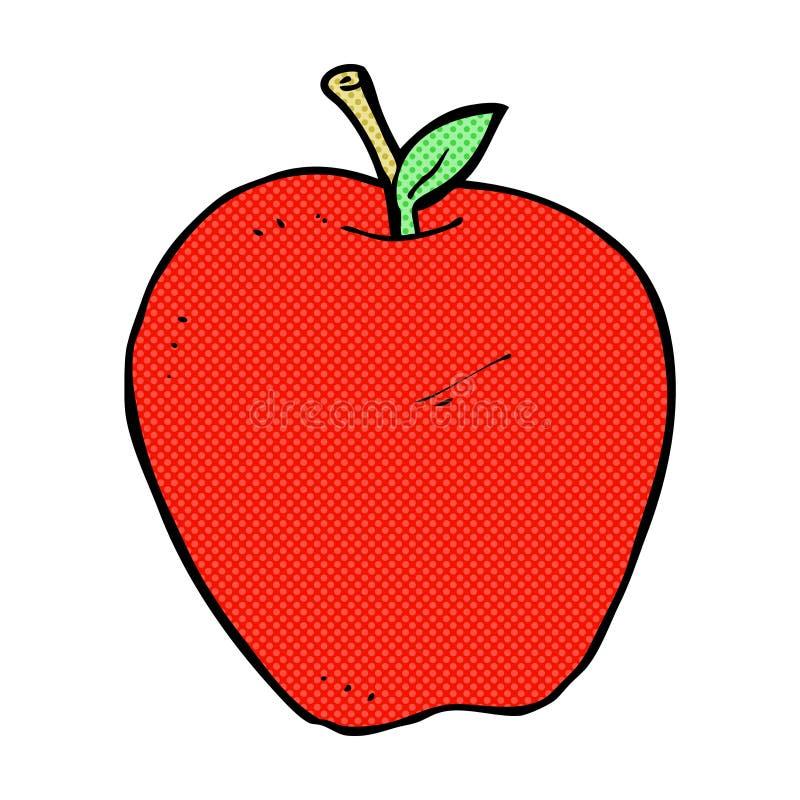 pomme comique de bande dessinée illustration stock