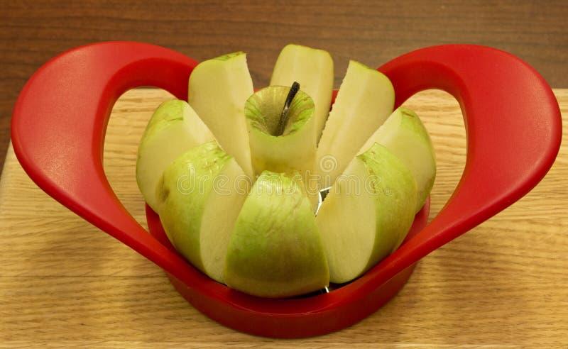 Pomme creusée image libre de droits
