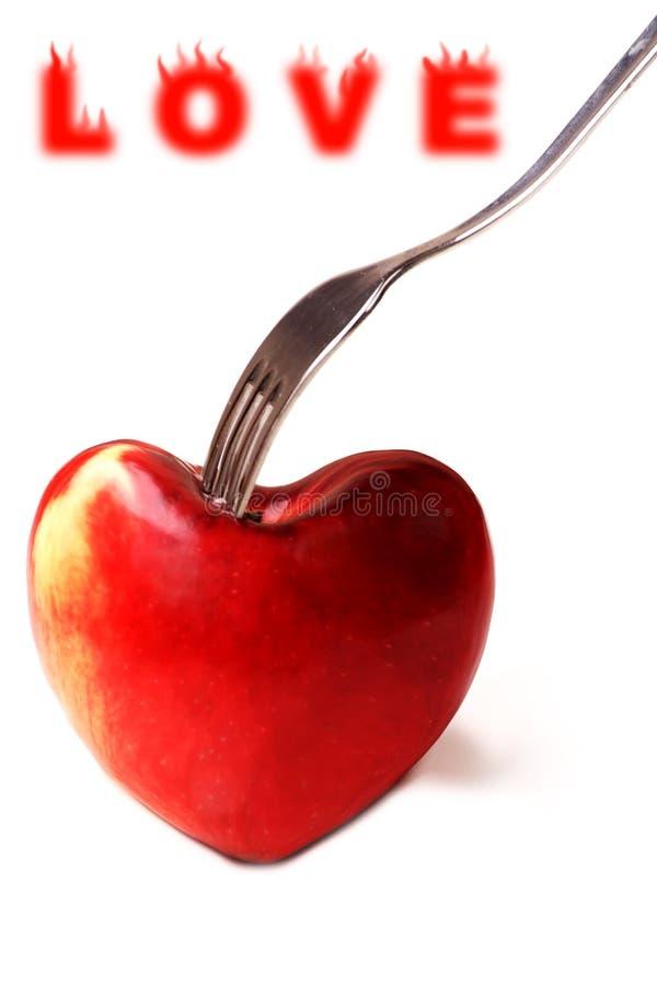 Pomme d'amour photographie stock