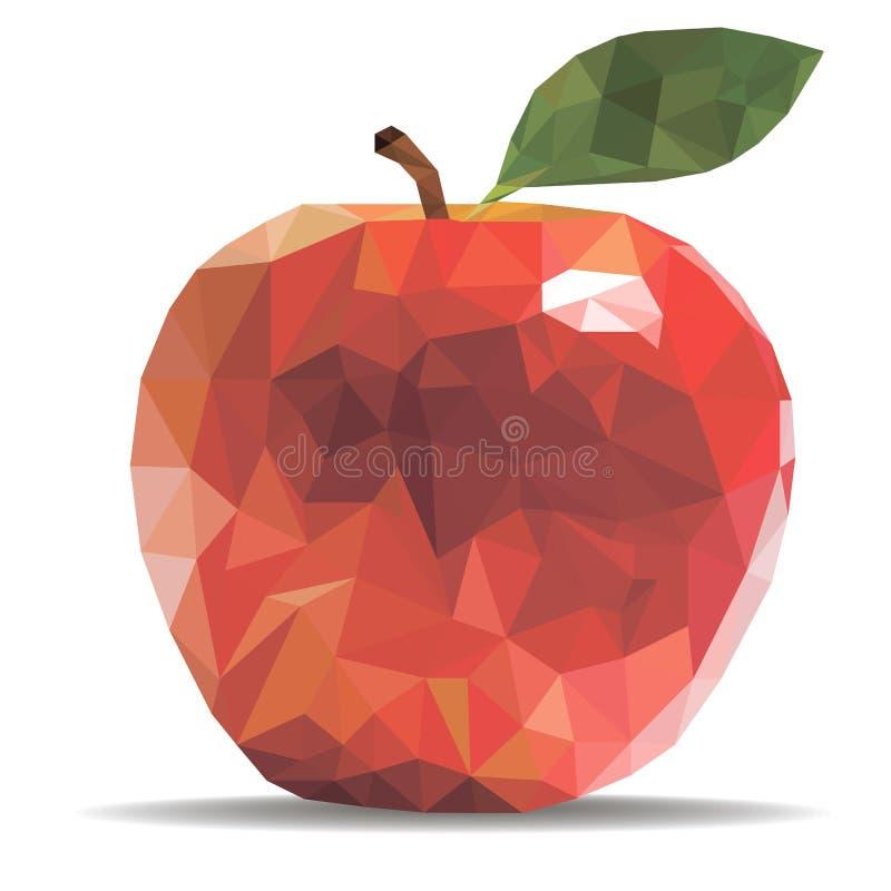 Pomme d'illustration de vecteur dans un style géométrique photos libres de droits