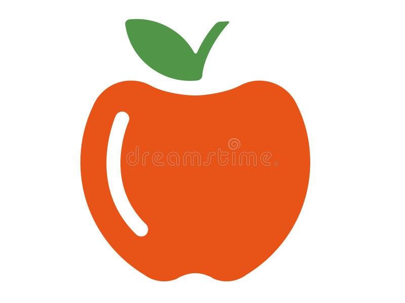 Pomme de logo de vecteur sur le fond blanc illustration libre de droits
