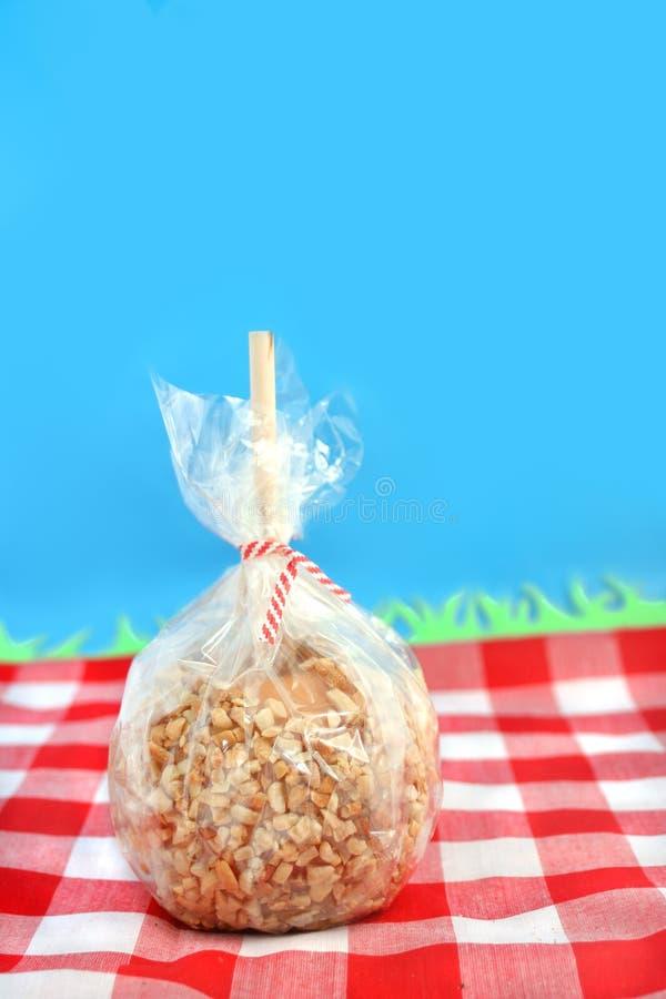 Pomme de sucrerie de caramel photos libres de droits