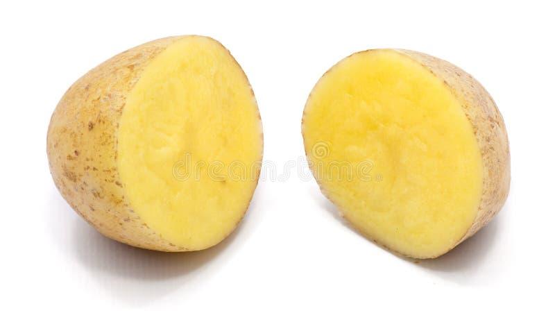 Pomme de terre d'isolement sur le blanc images stock