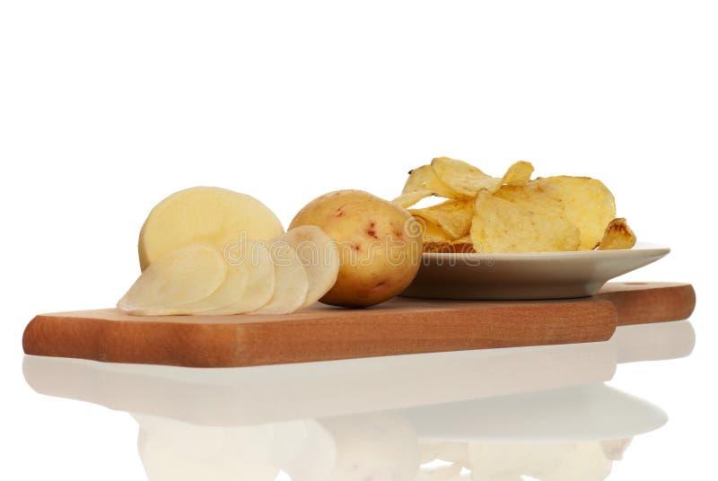 Pomme de terre enlevée photographie stock libre de droits