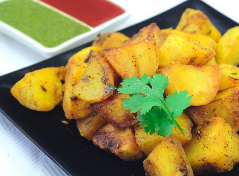 Pomme de terre frite indienne image libre de droits