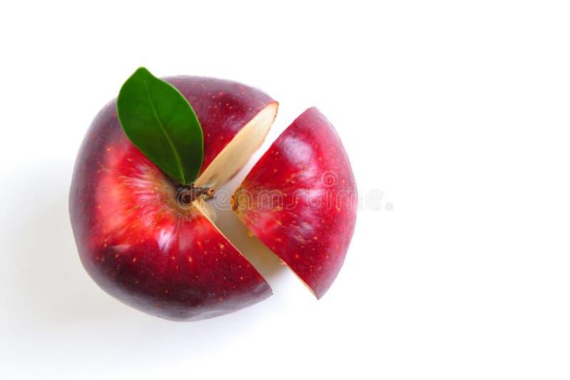 Pomme en coupe photographie stock