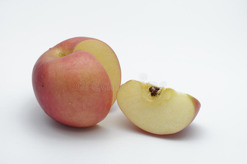 Download Pomme et part rouges photo stock. Image du doux, frais - 76078554