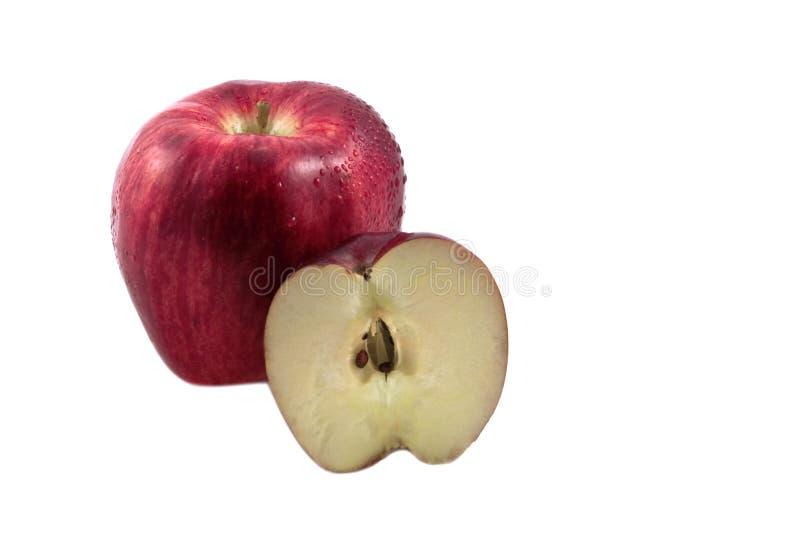 Pomme et partie fraîches photo stock