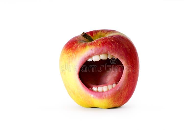 Pomme fâchée rouge image stock