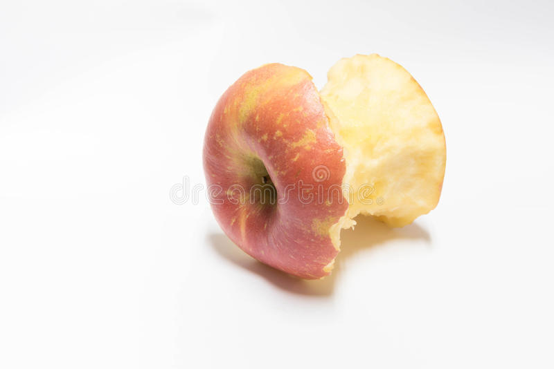 Pomme mordue photographie stock