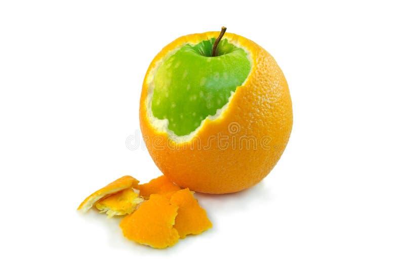 Pomme orange image libre de droits