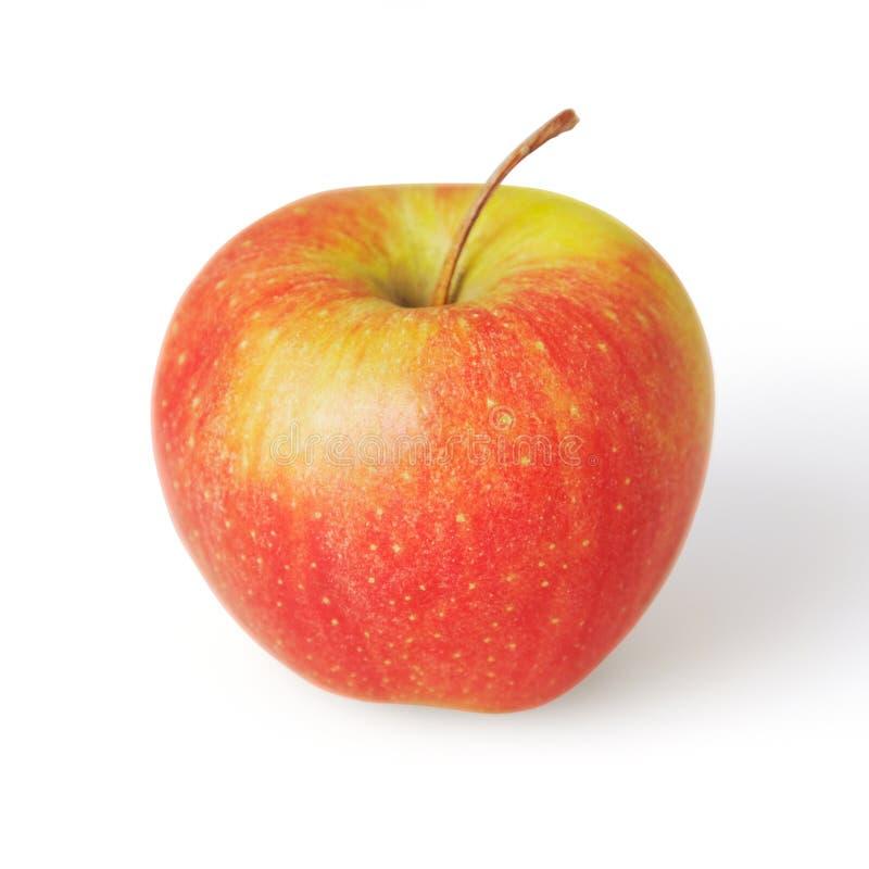 Pomme rouge d'isolement sur le fond blanc photos libres de droits