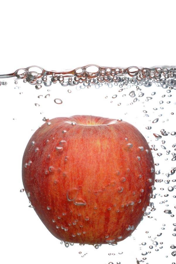 Pomme rouge fraîche photographie stock libre de droits