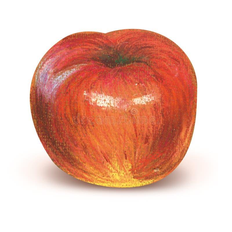 Pomme rouge peinte avec le chemin de coupure illustration libre de droits