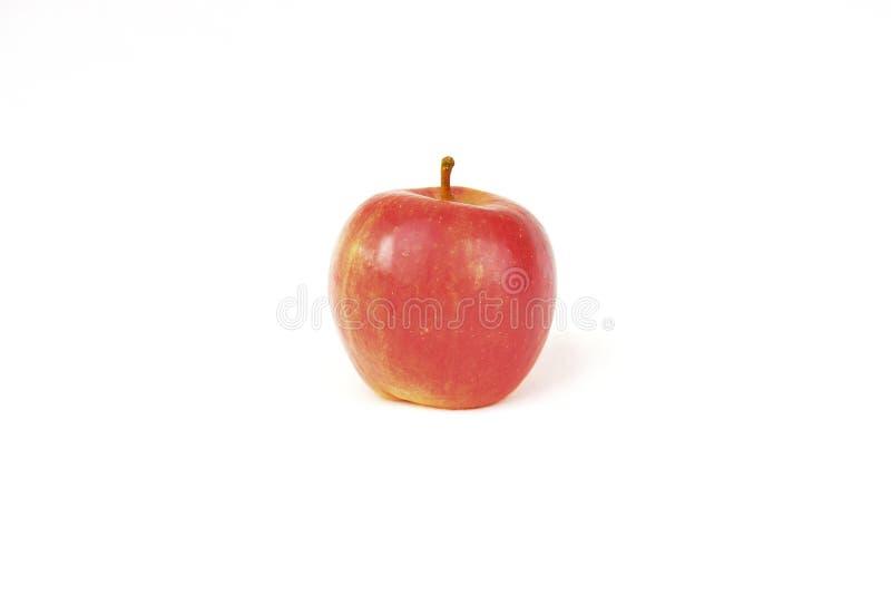Pomme rouge sur le fond blanc photographie stock libre de droits