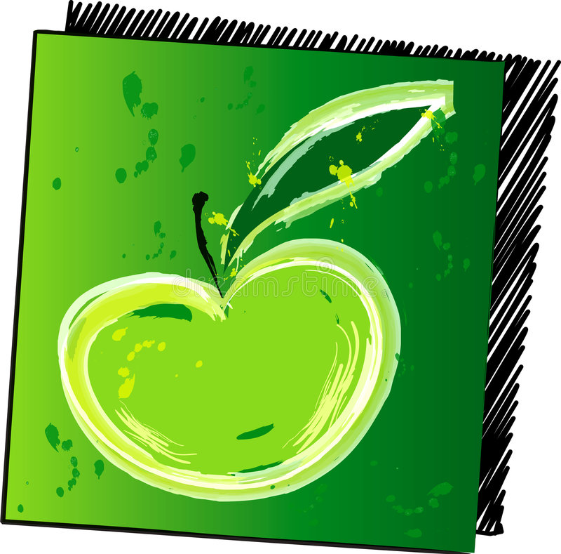 Pomme verte illustration stock