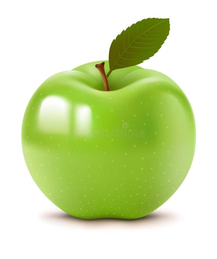 Pomme verte illustration de vecteur