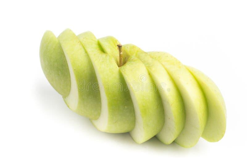 Download Pomme Verte Coupée En Tranches Photo stock - Image du pomme, part: 77163438