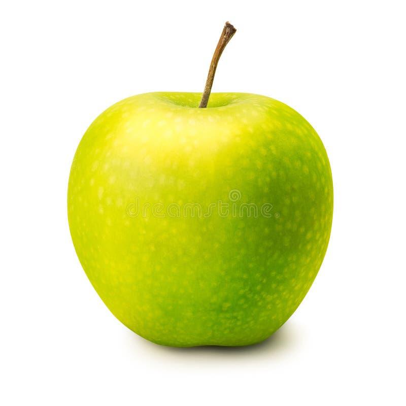 Pomme verte d'isolement images libres de droits