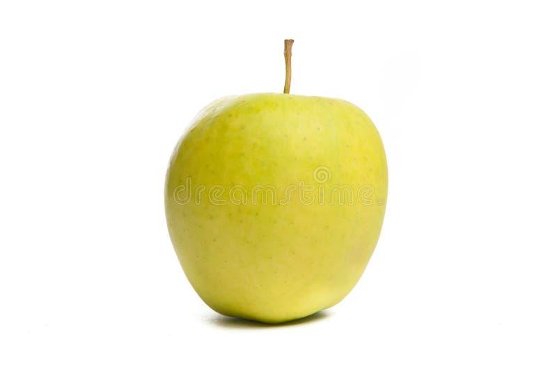 Pomme verte. D'isolement sur le blanc. image libre de droits