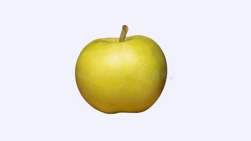 Pomme verte d'isolement sur le fond blanc Vue de c?t? illustration de vecteur