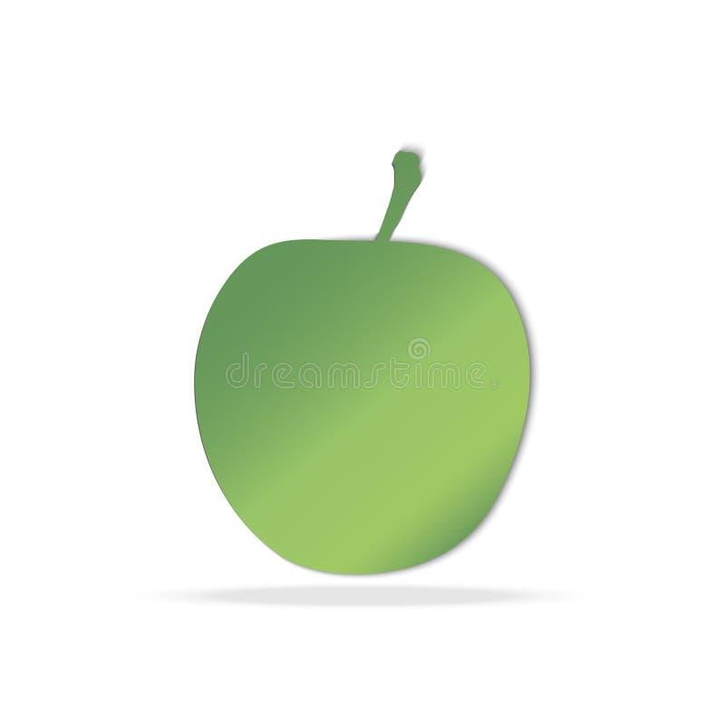 Pomme verte d'isolement Vecteur photo stock