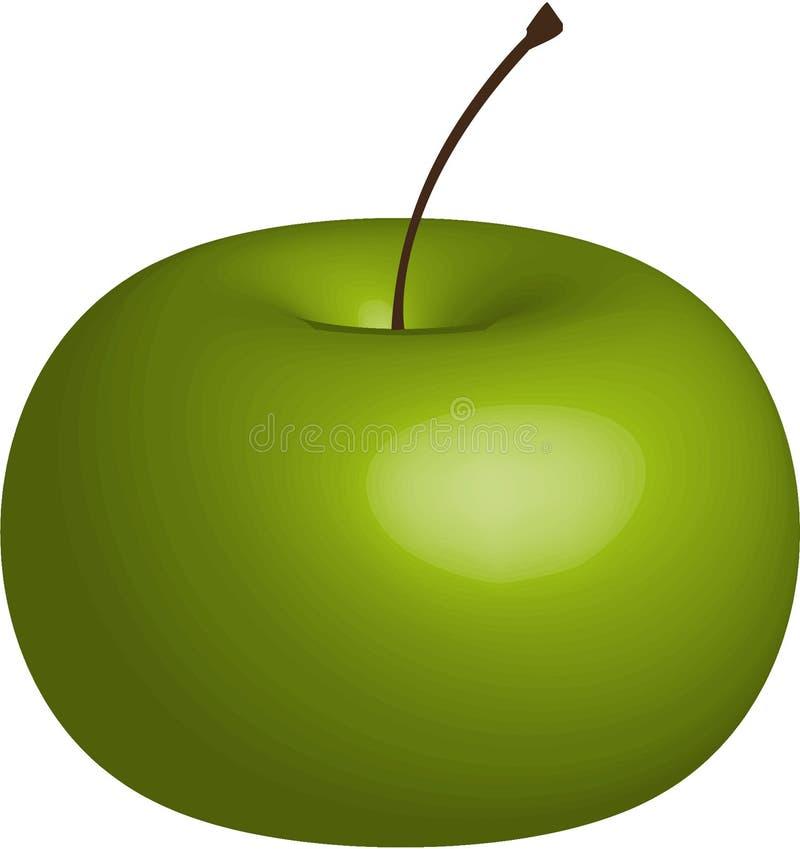 Pomme verte juteuse, mûre, douce image stock