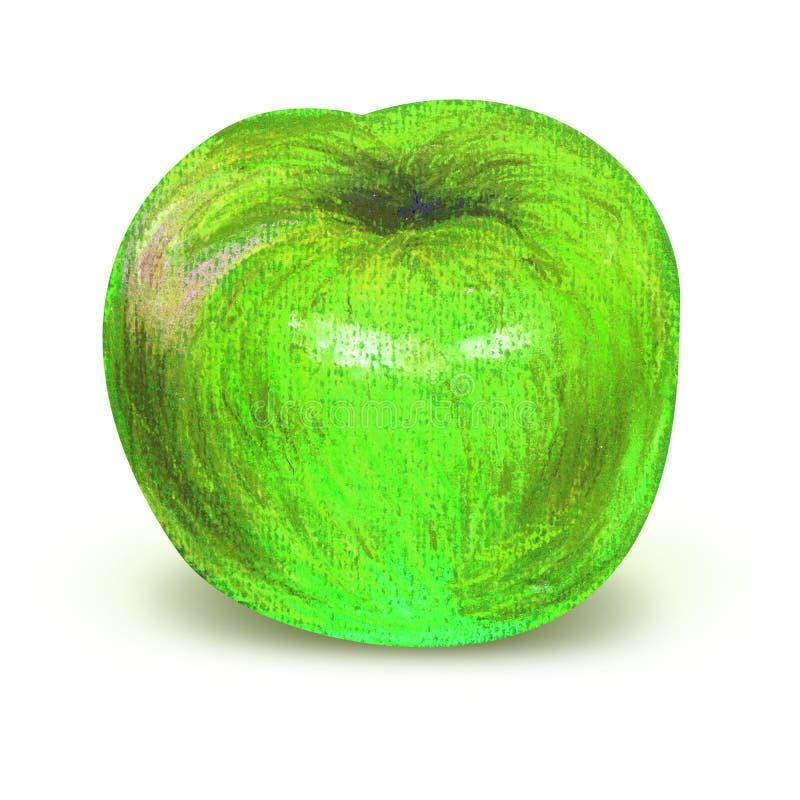 Pomme verte peinte avec le chemin de coupure illustration stock