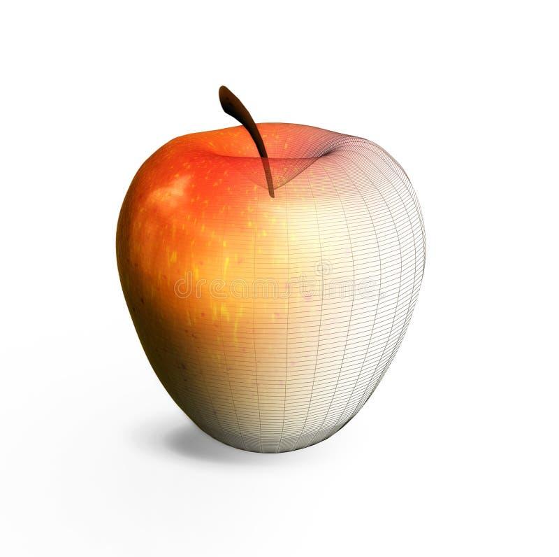 Pomme virtuelle illustration libre de droits