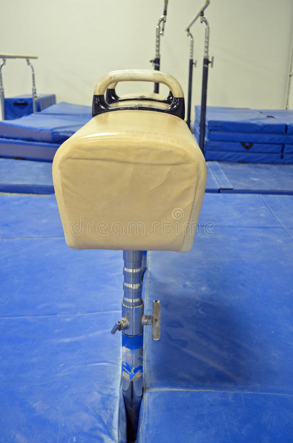 Pommel Horse end view. Pommel Horse, an artistic gymnastics apparatus royalty free stock images