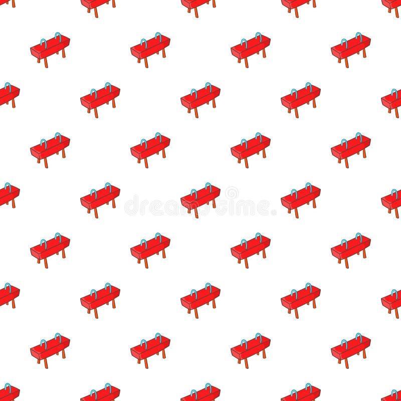 Pommel horse pattern, cartoon style. Pommel horse pattern. Cartoon illustration of pommel horse vector pattern for web royalty free illustration