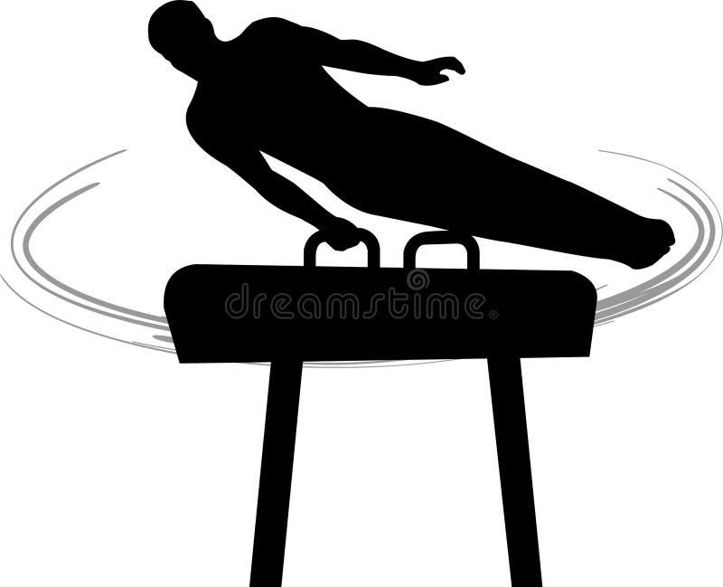pommel s för gymnastikhästmän royaltyfri illustrationer