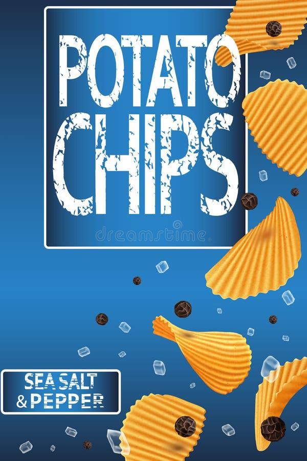 Pommes chips à nervures illustration libre de droits