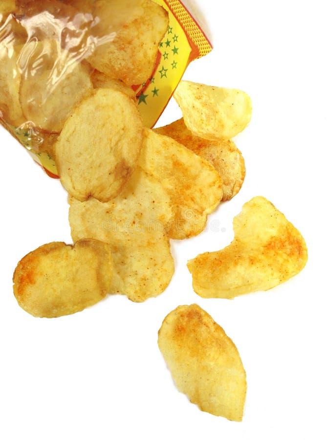 Pommes chips épicées image stock