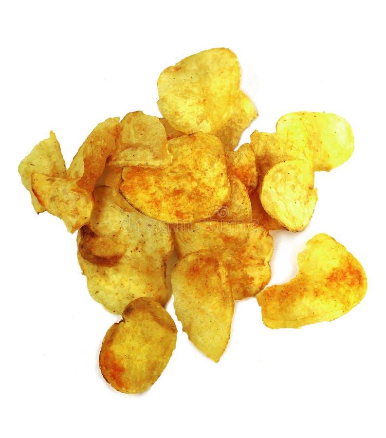 Pommes chips épicées photos libres de droits