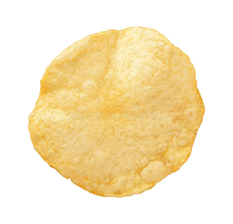 Pommes chips d'isolement photo libre de droits