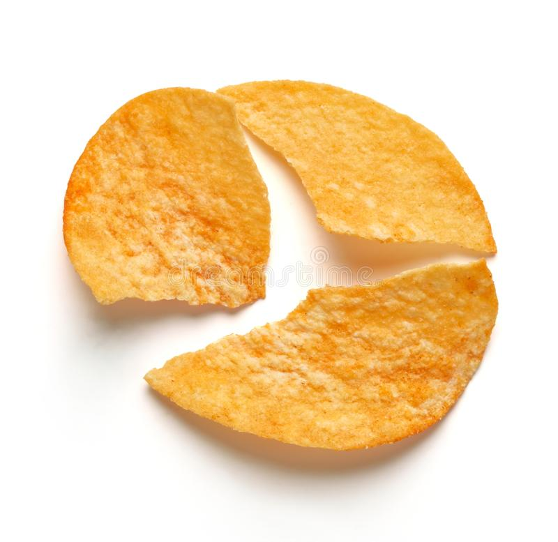 Pommes chips d'isolement photo stock